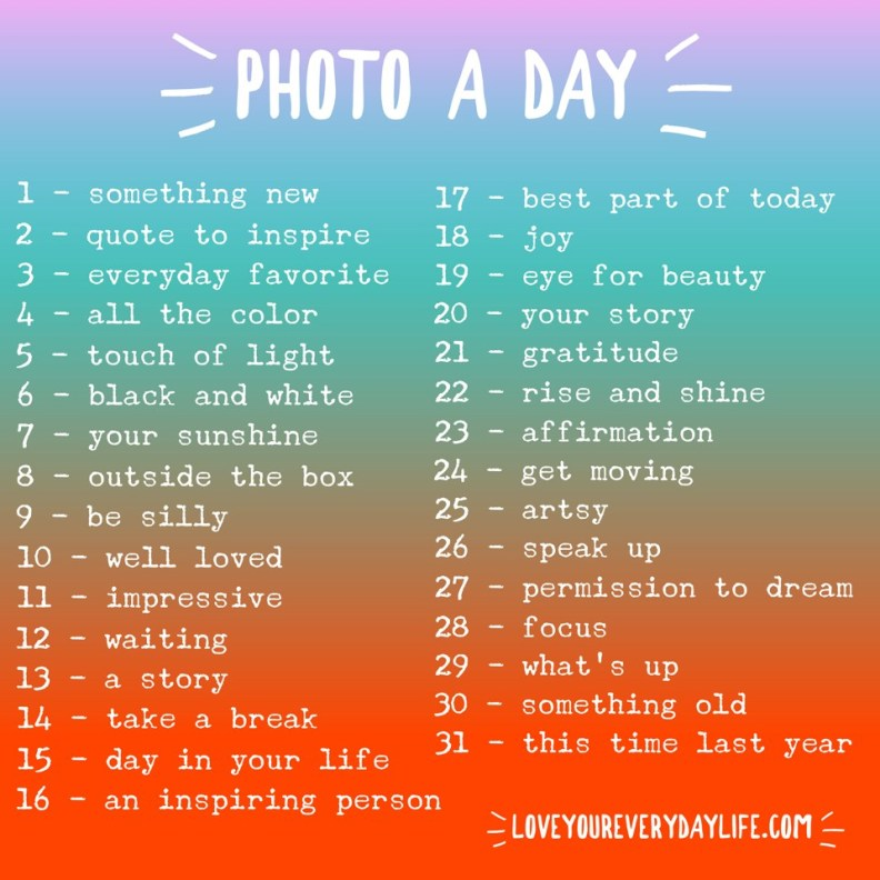 Photo-a-day Challenge